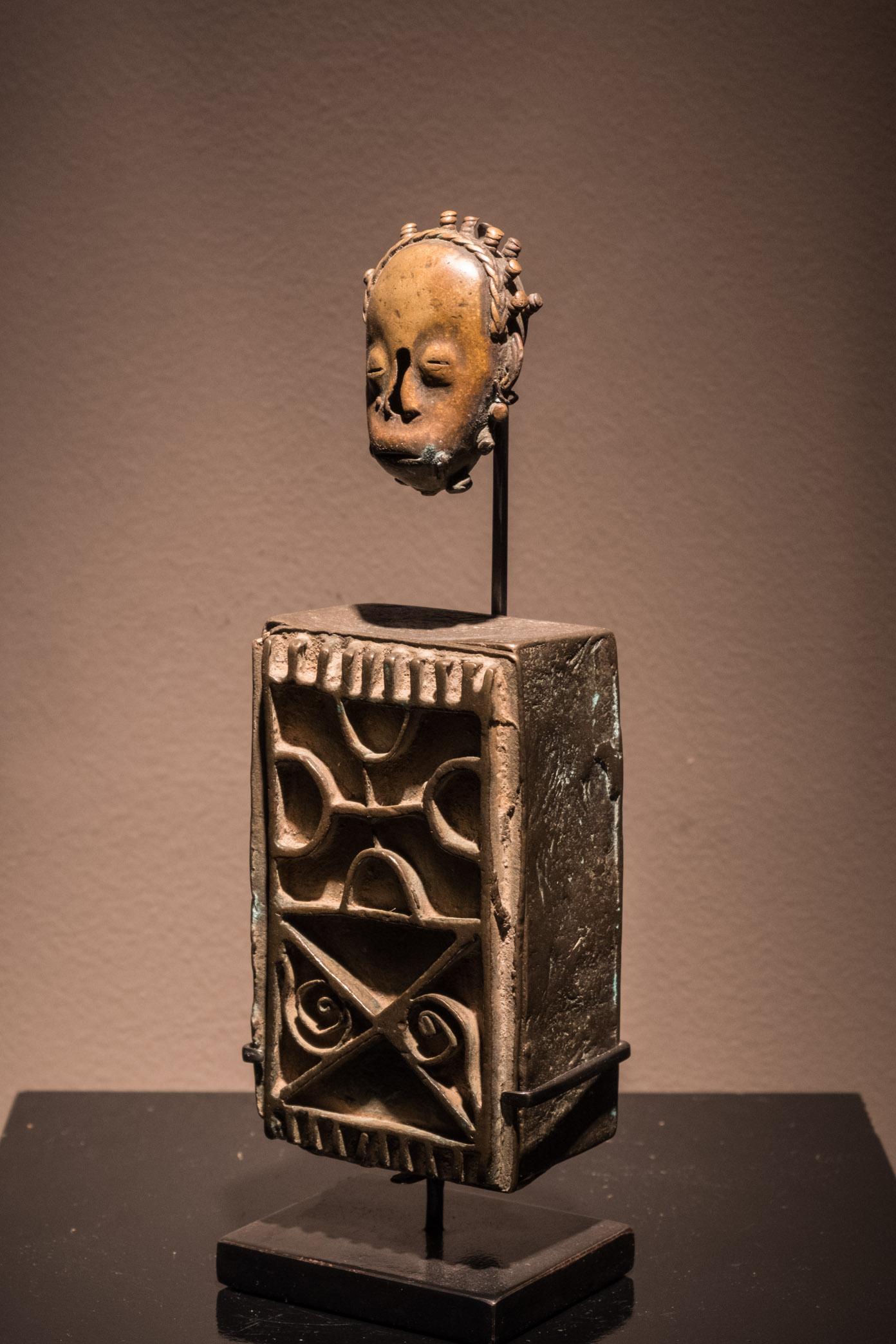 Boîte à or Akan + Pendentif bronze